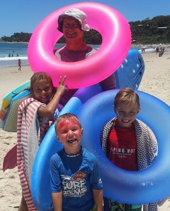Dr Peter Wuehr & his children - Bay Family Chiropractic - Chiropractor in Byron Bay